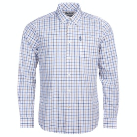 Barbour Tattersall 13 Mens Shirt - Sandstone