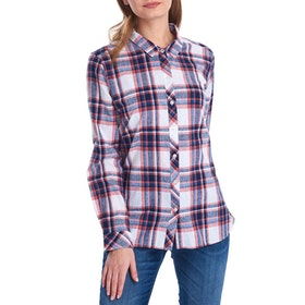 Barbour Seaglow Ladies Shirt - Coral Check