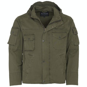 Barbour Wash Cowen Wax Jacket - Olive