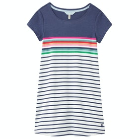Joules Riviera Girl's Dress - Blue Border Stripe