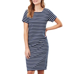 Joules Riviera Long Dress - Navy Cream Stripe