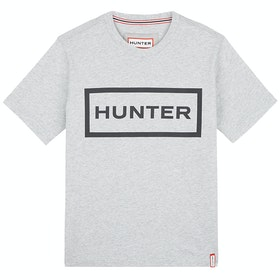 Hunter Original Damen Kurzarm-T-Shirt - Grey Marl/black
