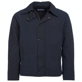 Barbour Wash Graham Wax Jacket - Navy