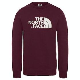 North Face Drew Peak Crew Sweater - Deep Garnet Red