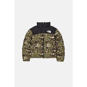 North Face Capsule 1996 Retro Nuptse Down Jacket - Burnt Olive Green UX Digi Camo Print