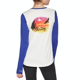 Burton Tech Womens Long Sleeve T-Shirt - Stout White Blue