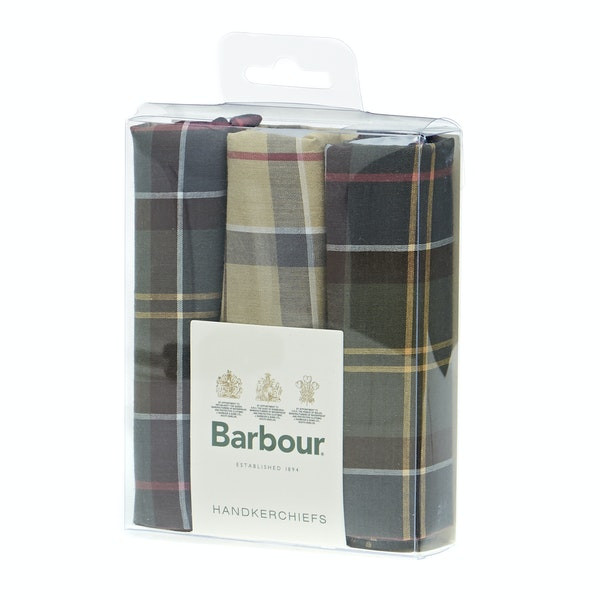 Barbour Classic 3 Boxed Handkerchief