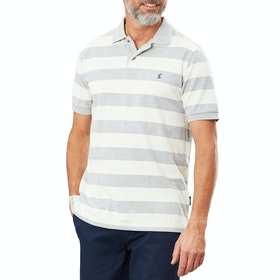 Joules Filbert Polo Shirt - Grey Marl Cream Stripe