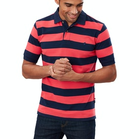 Joules Filbert Polo Shirt - Pink Navy Stripe