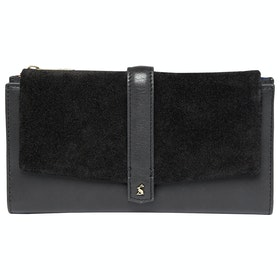 Joules Aycliffe Suede Purse - True Black
