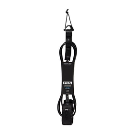 FCS Longboard Calf Essential Surf Leash - Black