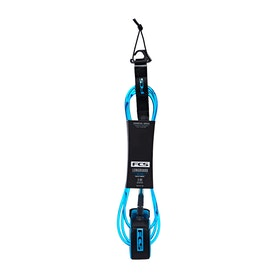 FCS Longboard Calf Essential Surf Leash - Black Blue