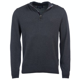 Barbour Cotton Half Zip Mens Sweater - Charcoal Marl
