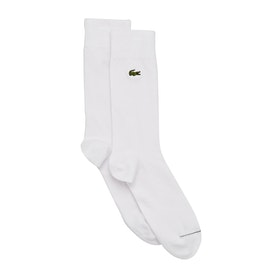 Calcetines Lacoste Plain - White