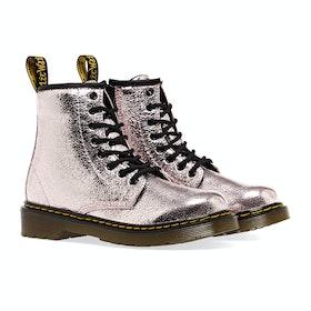 Dr Martens 1460 Crinkle Metallic Kid's Boots - Pink Salt