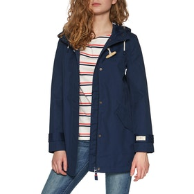 Joules Coast Mid Womens Waterproof Jacket - French Navy