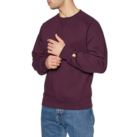 Sweat Carhartt Chase - Shiraz / Gold