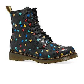 Dr Martens 1460 Hearts Kids Boots - Heart Custom Chaos K Hydro