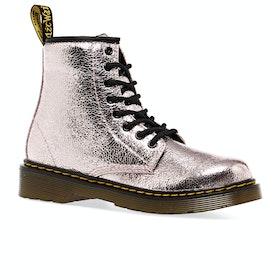 Dr Martens 1460 Crinkle Metallic Kids Boots - Pink Salt