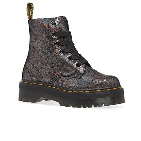 Dr Martens Molly Womens Boots - Gunmetal Iridescent Crackle