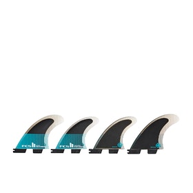 FCS II Performer Performance Core Quad Fin - Teal Black