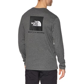 North Face Red Box , Langermet t-skjorte - TNF Medium Grey Heather