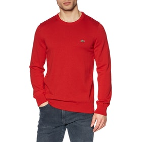 Maglione Lacoste Jersey Cotton - Red Flour Red