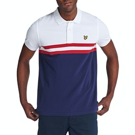 Lyle & Scott Vintage Yoke Stripe Polo-Shirt - Navy