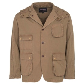 Barbour Wash Upland Wax Jacket - Sand