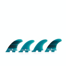 FCS II Performer Neo Glass Teal Gradient Quad Fin - Teal