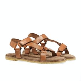 Penelope Chilvers Alma Leather Crepe Women's Sandals - Tan