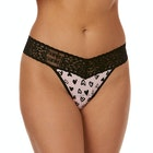 Thong Donna Hanky Panky Graffiti Hearts Original Rise