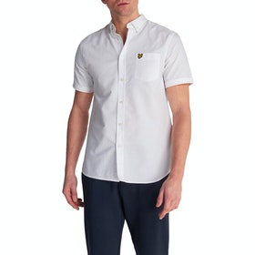 Lyle & Scott Vintage Oxford Kurzarmhemd - White