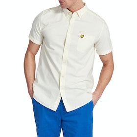 Lyle & Scott Vintage Oxford Kurzarmhemd - Buttercream White
