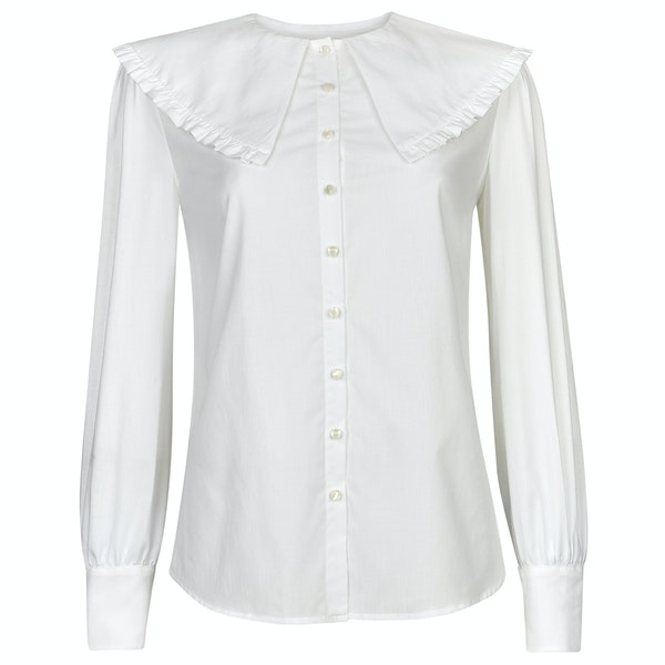 Troy London The Cape Collar Blouse Women's Shirt