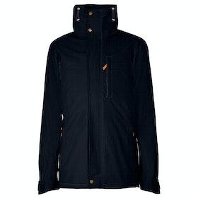 Troy London Parka Men's Wax Jacket - Navy