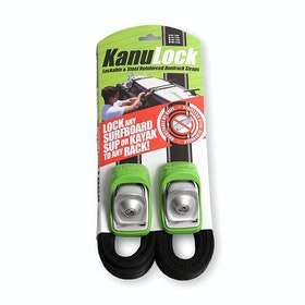 Kanulock Lockable Tiedown Set 2.5m / 8ft Surfbrett-Rack - Black Green