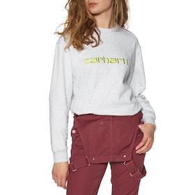 Carhartt Classic Womens Sweater - Ash Heather / Lime