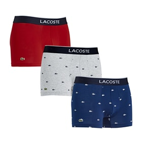 Shorts boxer Lacoste Trunks Underwear - Navy Blue/silver Chine/red