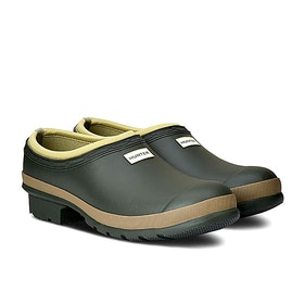 Stivali di Gomma Hunter Mens Gardener Clog - Dark Olive/clay
