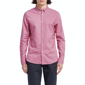 Farah Brewer Slim Fit Oxford Men's Shirt - Dusty Rose
