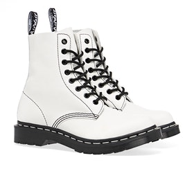 Dr Martens 1460 Pascal Black & White Damen Stiefel - Optical White Virginia
