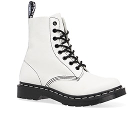 Dr Martens 1460 Pascal Black & White Womens Boots - Optical White Virginia