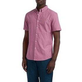 Farah Brewer Slim Men's Short Sleeve Shirt - Dusty Rose