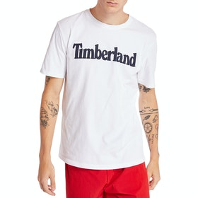 Timberland Kennebec River Brand Linear T Shirt - White