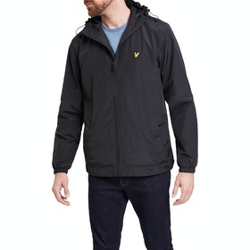 Lyle & Scott Vintage Zip Through Hooded Herren Jacke - Black