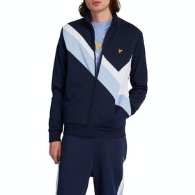 Lyle & Scott Archive Panel Funnel Neck Pullover - Navy