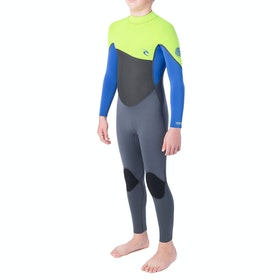 Rip Curl Omega 4/3mm Back Zip Boys Wetsuit - Lime