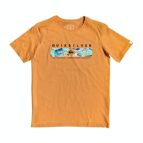 Quiksilver Distant Fortune Boys Short Sleeve T-Shirt - Apricot Buff