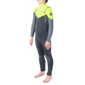 Rip Curl Junior Dawn Patrol 5/3 Chest Zip Boys Wetsuit - Lime